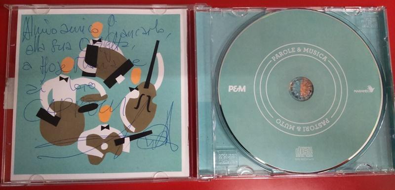 Interno CD con dedica