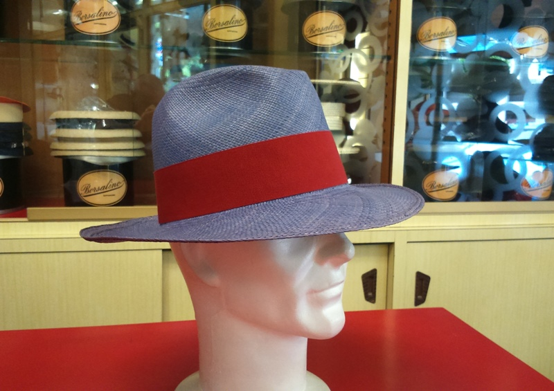 Fedora in panama color denim