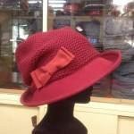 Cappello in feltro con cupola in maglia
